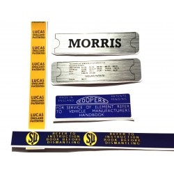 Morris Minor Engine Sticker Bundle 8
