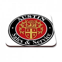 Austin Sales & Service Coaster Set