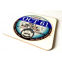 Fully Personalised Tax Disc Coaster Set x4 (upto 2004)