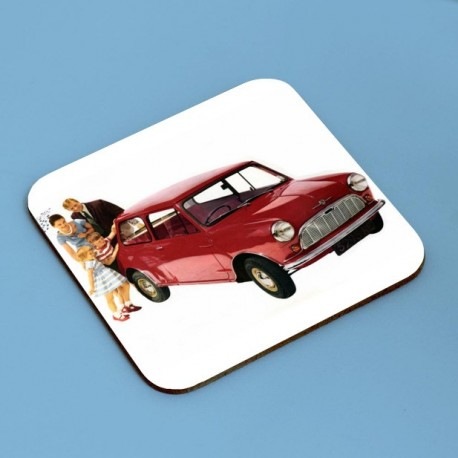 Classic Mk1 Mini Advertisements Coaster Set x4