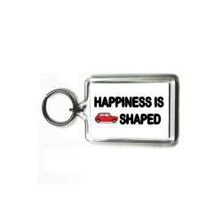 Happiness is Mini Shaped Key Ring