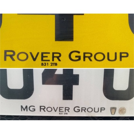 Rover Group Replica Number Plate Stickers x1
