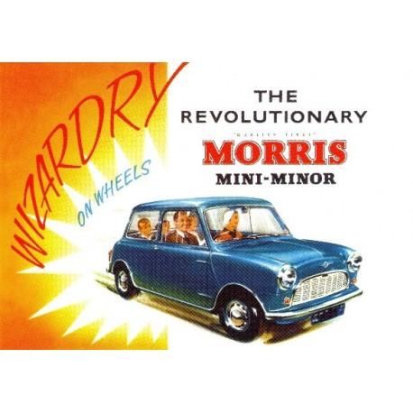 The Revolutionary Morris Mini Minor - Canvas Wall Art