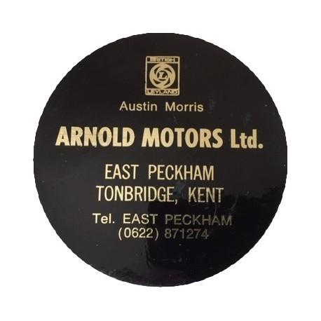 Arnold Motors British Leyland Austin Morris Peckham Tonbridge Replica Tax Disc Holder - Special Order
