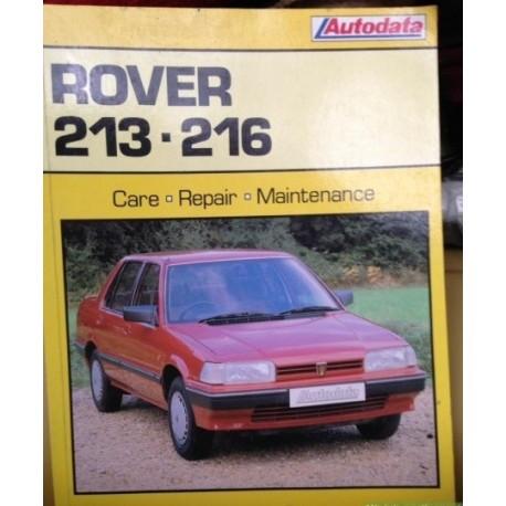 Rover 213 216 Autodata Car Manual