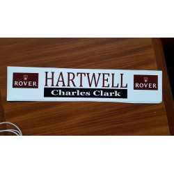 Hartwell Charles Clark Replica Window Sticker