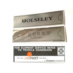 Wolseley Hornet Engine Decal Pack