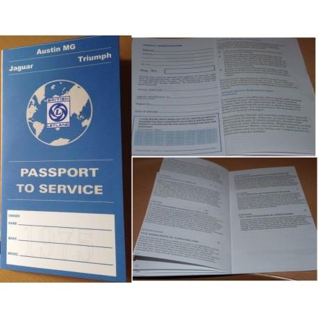 British Leyland Austin MG Jaguar Triumph Replica Passport to Service Book