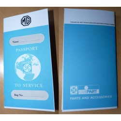British Leyland MG Replica Passport to Service Book