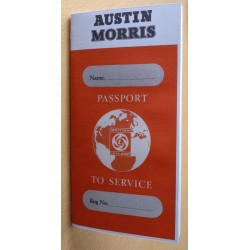 British Leyland Austin Morris Replica Passport to Service Book