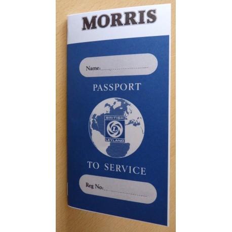 British Leyland Morris Replica Passport to Service Book