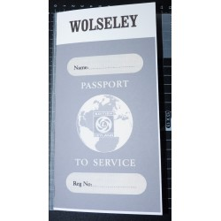British Leyland Wolseley Replica Passport to Service Book
