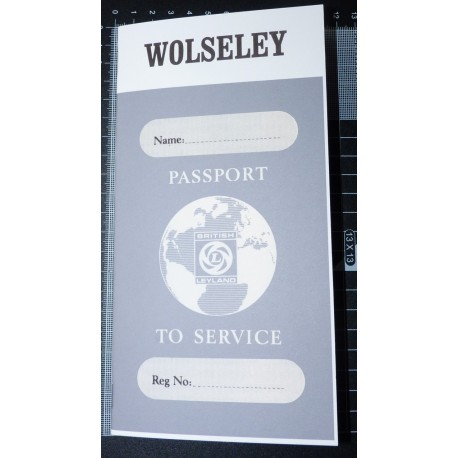 British Leyland Wolseley Replica Passport to Service Book
