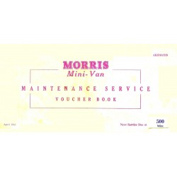 BMC Morris Mini Van Replica Maintenance Service & Voucher Book 1961