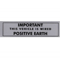 Positive Earth Brushed Aluminium Sticker LMG1005A