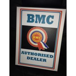 BMC Authorised Dealer Wall Sign Canvas Art