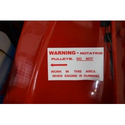 Rotating Pulleys - Warning Sticker