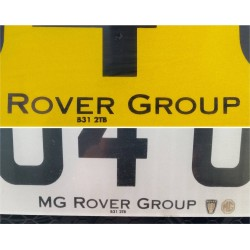 Rover Group Replica Number Plate Stickers x2