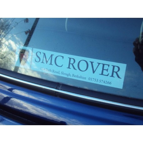 Design Your Own MG Rover Window Sticker - Special Order