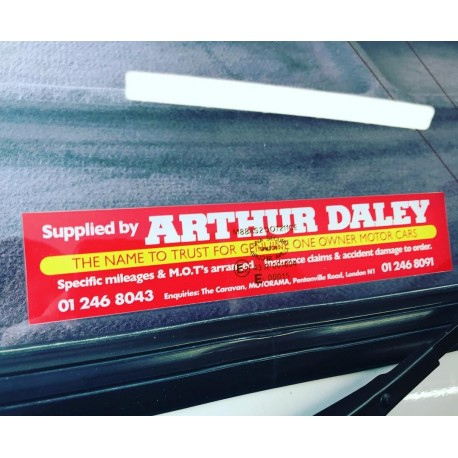 Arthur Daley Motorama Replica Self Cling Window Sticker