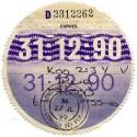 1990's Replica Tax Discs