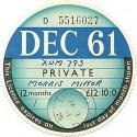 1960's Replica Tax Discs